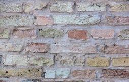 Ściana z cegieł tła tekstura Obrazy Stock
