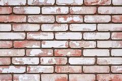 Ściana z cegieł tła zakończenie zdjęcia royalty free