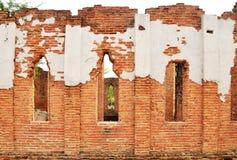 Ściana z cegieł tekstura obrazy royalty free
