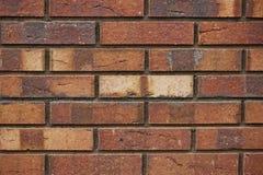 Ściana z cegieł tekstura cegła w różnych cieniach zakończenie Obrazy Stock