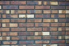 Ściana z cegieł tekstura cegła w różnych cieniach zakończenie Obraz Royalty Free