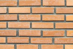 Ściana z cegieł tekstura na nieociosanym tle Obrazy Royalty Free