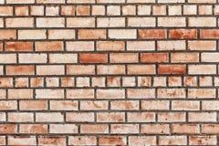 Ściana z cegieł, tekstura, tło. Zdjęcia Royalty Free