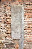 Ściana z cegieł tekstury abstrakta tła & cement Fotografia Royalty Free