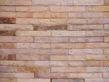Ściana z cegieł tekstury grunge tło z vignetted kątami Obrazy Stock