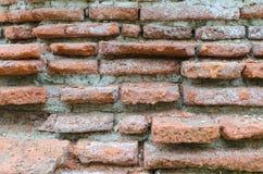Ściana z cegieł w świątynnym terenie Fotografia Royalty Free