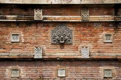 Ściana z cegieł w coutyard Wielki Meczetowy Kotagede Obrazy Stock