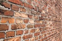 Ściana z cegieł w diagonalnym terminie zdjęcie stock