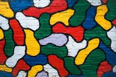 Ściana z cegieł w kolorach Obraz Royalty Free