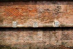 Ściana z cegieł w podwórzu Wielki Meczetowy Kotagede Zdjęcie Stock