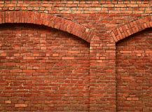 Ściana z cegieł z łukiem Zdjęcie Royalty Free