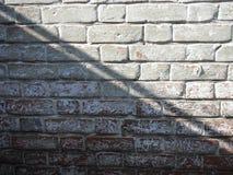 Ściana z cegieł z cieniami Obraz Royalty Free