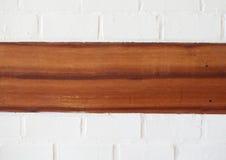 Ściana Z Cegieł z drewnianą Teksturą obraz royalty free