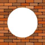 Ściana z cegieł z dziurą Obrazy Royalty Free