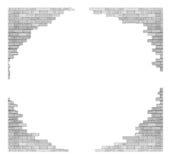 Ściana z cegieł z dziurą Odizolowywającą na białym tle dla projekta tex zdjęcia royalty free