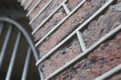 Ściana z cegieł z złączami Fotografia Stock