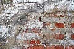 Ściana z cegieł zbliżenie fotografia royalty free