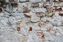 Ściana z cegieł zbliżenie obrazy stock