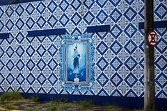 ściana z dekoracyjną podłogą zdjęcie stock