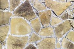 Ściana z irregularly kształtować brąz płytkami Obraz Royalty Free