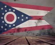 Ściana z malującą Ohio flaga zdjęcia stock