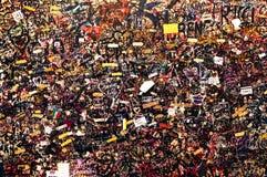 Ściana z miłość wiadomościami, Juliet& x27; s dom, Verona, Włochy Fotografia Royalty Free