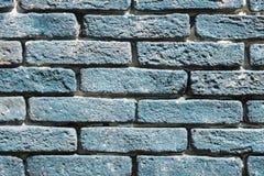 Ściana z seledyn ściągłymi cegłami Zdjęcie Stock