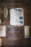 Ściana z starym signage od Amish kraju Obrazy Royalty Free