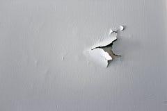 Ściana z strugać białą farbę Obraz Royalty Free