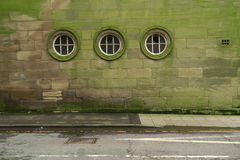 Ściana z trzy okno Obrazy Royalty Free