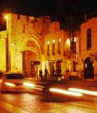Ściany Antyczny miasto i Jaffa brama, Jerozolima, Izrael fotografia stock