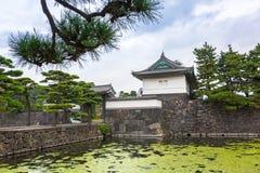 Ściany Cesarski pałac w Tokio zdjęcie stock