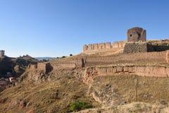 Ściany i magistrala roszują, Daroca, Zaragoza prowincja obraz royalty free