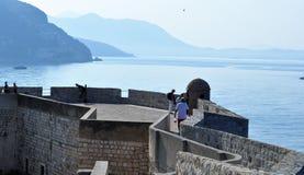 Ściany i morze obraz royalty free