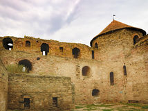Ściany i okno Forteczny Akkerman w Ukraina fotografia royalty free