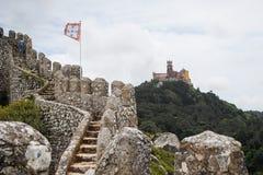 Ściany i pałac sintra fotografia stock