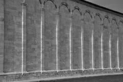 Ściany Pisa w piazza dei Miracoli, Włochy Obrazy Stock