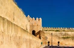Ściany Royal Palace Meknes, Maroko obraz royalty free