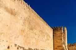 Ściany Royal Palace Meknes, Maroko obrazy royalty free