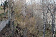 Ściany Wzdłuż rzeki Fotografia Royalty Free