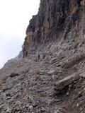 Ścieżka Alfredo Benini w Brenta dolomitów górach w Włochy Obraz Royalty Free