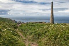 Ścieżka arszenik pracy Przy Botallack, Cornwall obrazy royalty free