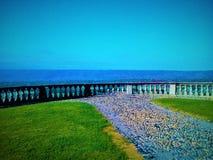 Ścieżka, balkon i niebo, zdjęcie royalty free