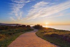 Ścieżka blisko morza fotografia stock