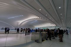 ŚCIEŻKA dworzec w world trade center transportu centrum w lower manhattan Obraz Royalty Free