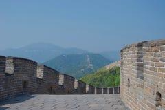 Ścieżka i parapet na wielkim murze Chiny fotografia stock
