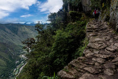 Ścieżka inka most, Urubamba, Mach Picchu, Peru Zdjęcia Royalty Free