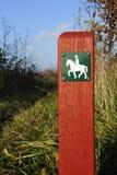 ścieżka koński znak zdjęcia royalty free
