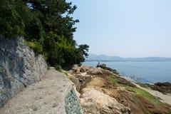 Ścieżka morze Fotografia Royalty Free