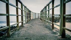 Ścieżka na górze dziecka ` s basenu jetty w losie angeles Jolla, Kalifornia Fotografia Stock